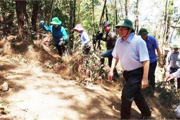 Trưởng Ban Tổ chức Trung ương đến hiện trường chỉ đạo vụ cháy rừng ở Hà Tĩnh