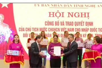 70 công dân Lào cư trú tại Nghệ An được nhập quốc tịch Việt Nam