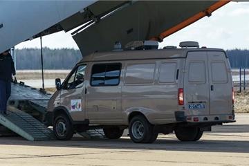 """Cận cảnh """"Ngựa thồ"""" IL-76 được Nga cử sang hỗ trợ Italy chống dịch Covid-19"""