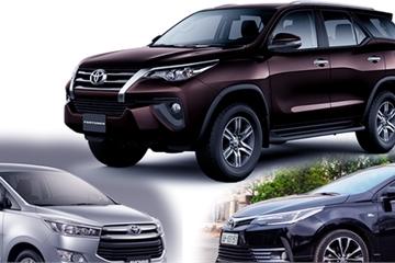 Giá xe ô tô Toyota cập nhật mới nhất tháng 9/2019