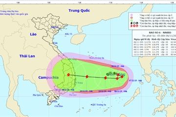Tin bão số 6 mới nhất hôm nay: Giật cấp 13 sau 48 giờ, nhằm thẳng miền Trung