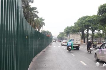 Hà Nội: Tiến hành rào chắn đường Lê Quang Đạo để mở rộng mặt đường