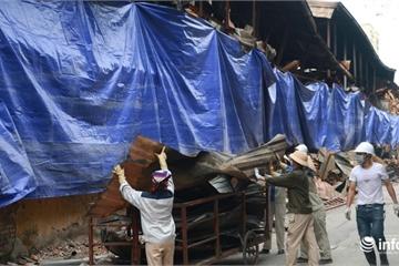 Vụ cháy công ty Rạng Đông: Đã quây bạt phủ hiện trường