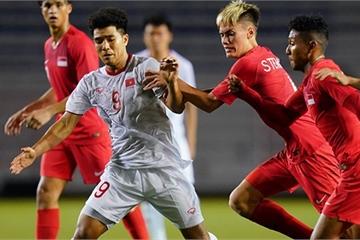 """""""Xé lưới"""" U22 Singapore, Đức Chinh bị yêu cầu kiểm tra doping"""
