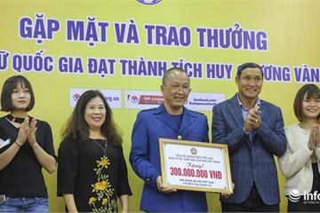 Giành huy chương vàng SEA Games 30, ĐT nữ Việt Nam được thưởng gần 22 tỷ đồng