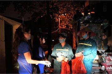 Hà Nội: Thanh niên tặng hàng nghìn suất quà cho lao công, nhân viên chốt phòng dịch