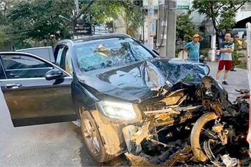 Bắt tài xế lái xe Mercedes tông 2 người thương vong gần sân bay Tân Sơn Nhất