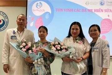 Ngân hàng sữa mẹ Bệnh viện Từ Dũ nhận hơn 2.000 lít sữa hiến