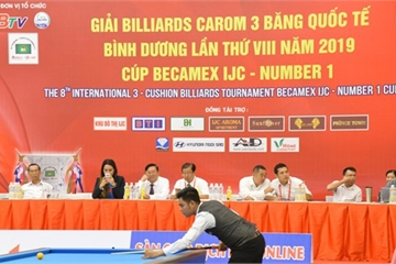 Khai mạc Giải Billiards Carom 3 băng Quốc tế Bình Dương 2019