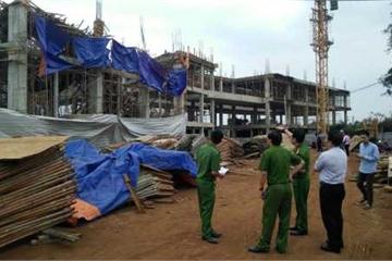 Đắk Lắk: Sập giàn giáo một công trình 2 tầng ở TP Buôn Ma Thuột