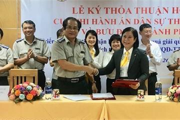 Bưu điện Đà Nẵng và Cục Thi hành án dân sự ký kết hợp tác nâng cao chất lượng dịch vụ hành chính công