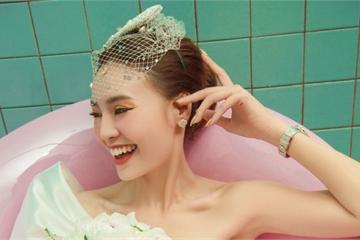 Vừa dự đám cưới Đông Nhi, Ninh Dương Lan Ngọc liền tung bộ ảnh váy cưới lộng lẫy