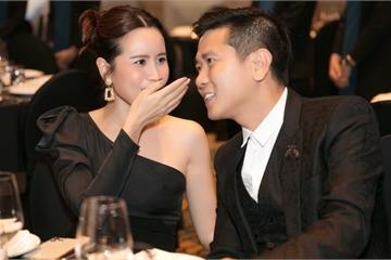 Hồ Hoài Anh- Lưu Hương Giang tình tứ như vợ chồng son đến dự đám cưới Giang Hồng Ngọc