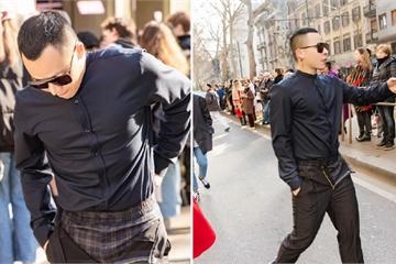 """Không cần gà cưng, Vũ Khắc Tiệp mặc quần """"không kéo khóa"""" cũng gây sốt tại Milan"""