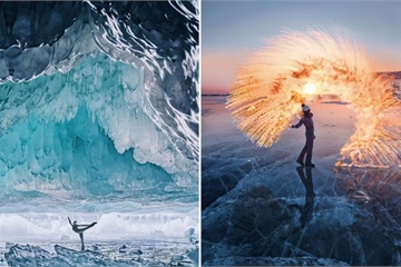 Đẹp nín thở những bức ảnh như cõi tiên của cô gái chụp ở hồ sâu nhất trái đất