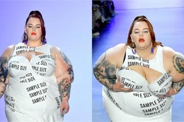 Tess Holliday 'gây bão' khi diện váy hở ngực tham gia tuần lễ thời trang New York
