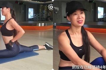 """""""Bà ngoại nóng bỏng nhất Trung Quốc"""" tập gym hàng ngày giữ nhan sắc"""