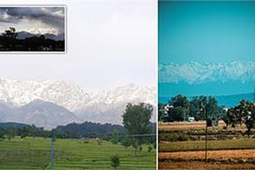 Sau hơn 3 thập kỷ, người dân Ấn Độ hào hứng khoe nhìn rõ dãy Himalaya cách xa 200km