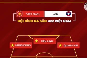 Đội hình xuất phát chính thức U22 Việt Nam đấu U22 Lào chiều 28/11