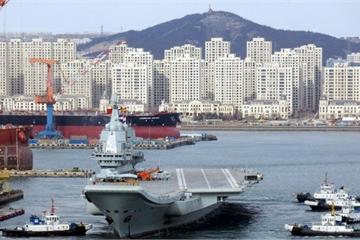Trung Quốc lại cấm biển để chạy thử tàu sân bay nội địa Type 001A