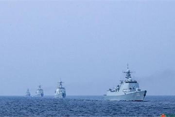 """Lo đối phó Mỹ, hải quân TQ tập trận ở vị trí """"bí mật"""" trên Thái Bình Dương"""