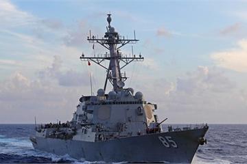 Chiến hạm nào của Mỹ mang theo tên lửa vừa đi qua eo biển Đài Loan?