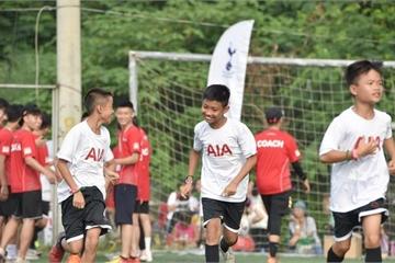 Cầu thủ nhí trải nghiệm cảm giác Ngoại hạng Anh cùng Tottenham ngay tại Hà Nội