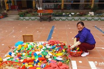 Điện Biên: Giáo viên căng mình chống dịch, sân trường trở thành nơi phơi đồ chơi