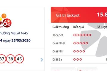 1 người trúng Jackpot gần 16 tỷ và trở thành 'tỷ phú Vietlott' thứ tư của tháng Ba