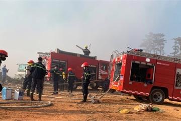 Đà Lạt: Đám cháy tại bãi rác Cam Ly đã cơ bản được khống chế
