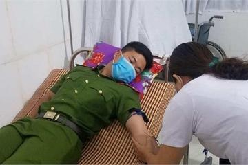 Thiếu úy Công an kịp thời hiến máu cứu bệnh nhân phẫu thuật ngay trong đêm