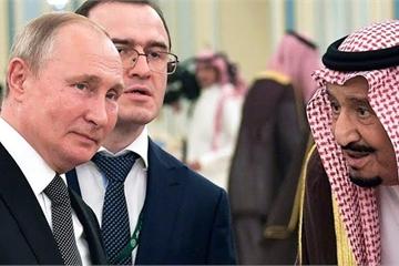"""Khoảnh khắc món quà đặc biệt TT Nga tặng Quốc vương Ả Rập """"làm liều"""""""
