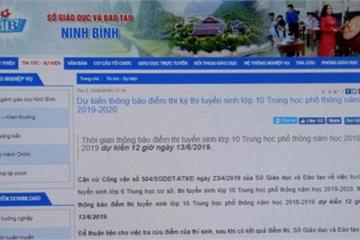 Tra cứu điểm thi và điểm chuẩn vào lớp 10 năm 2019 tại Ninh Bình