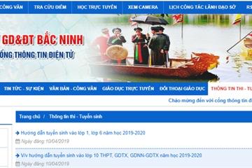 Tra cứu điểm thi và điểm chuẩn vào lớp 10 năm 2019 tại Bắc Ninh nhanh nhất