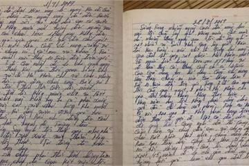 """Xôn xao các bức ảnh được cho là """"tâm thư"""" của ông Bùi Xuân Hồng trước khi gây án"""