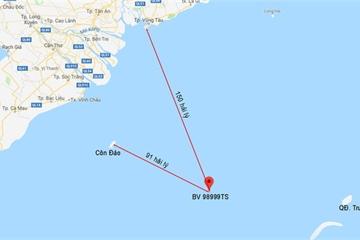 Một thuyền viên mất tích cách Vũng Tàu 150 hải lý