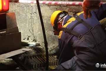 Xuyên đêm hút bùn, khơi thông hệ thống thoát nước quanh Công ty Rạng Đông