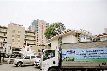 Vinamilk tăng cường hỗ trợ dinh dưỡng cho y bác sỹ, bệnh nhân tại bệnh viện Bạch Mai