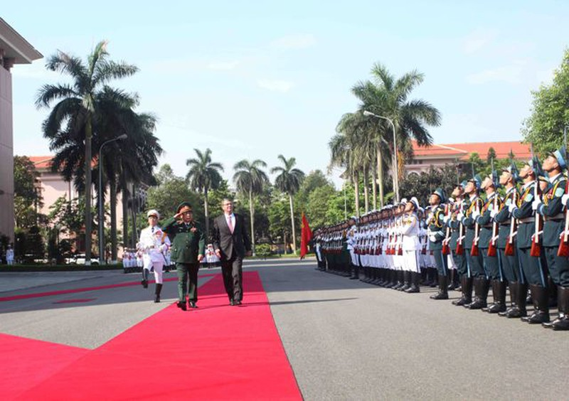 Hình ảnh toàn cảnh Bộ trưởng Quốc phòng Hoa Kỳ thăm Việt Nam - ảnh 3