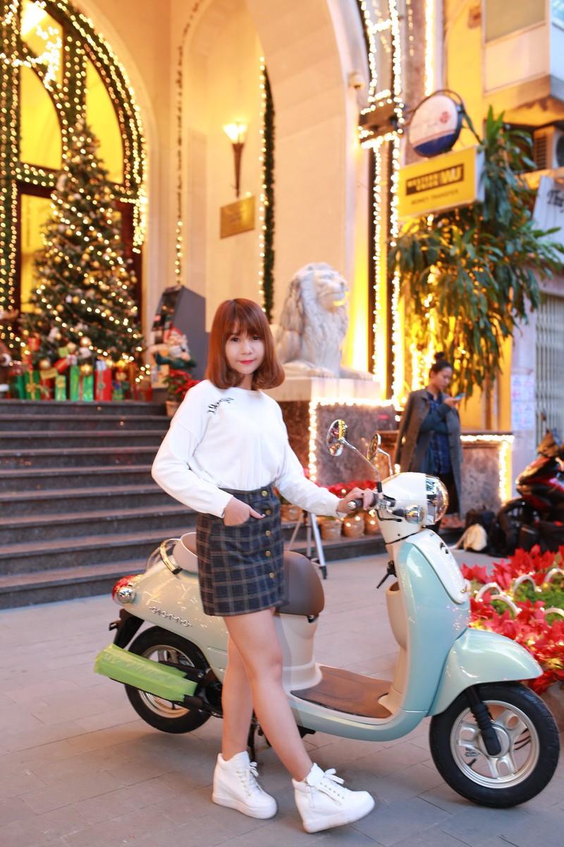 Honda Giorno 2015 'lép vế' khi đứng cạnh người đẹp - ảnh 8