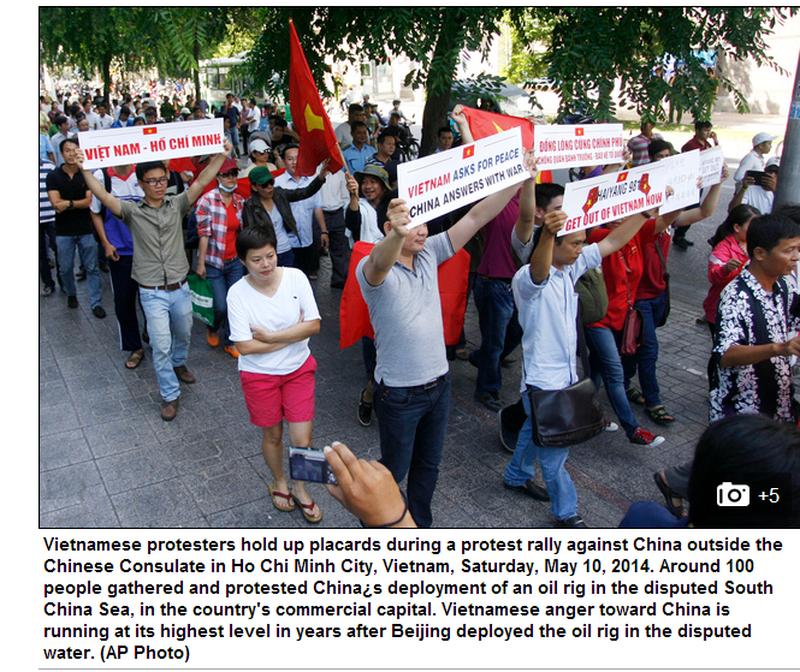 Việt Nam tuần hành hòa bình phản đối Trung Quốc lên báo chí quốc tế - ảnh 9