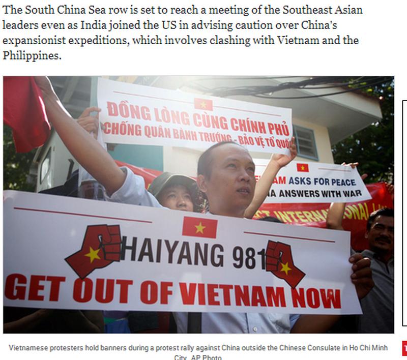 Việt Nam tuần hành hòa bình phản đối Trung Quốc lên báo chí quốc tế - ảnh 10