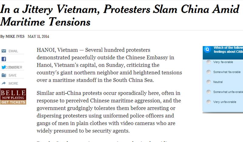 Việt Nam tuần hành hòa bình phản đối Trung Quốc lên báo chí quốc tế - ảnh 7
