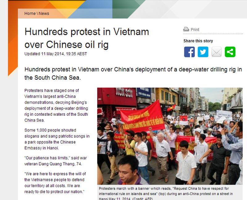 Việt Nam tuần hành hòa bình phản đối Trung Quốc lên báo chí quốc tế - ảnh 5