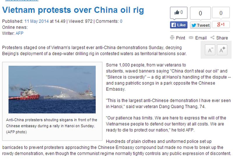 Việt Nam tuần hành hòa bình phản đối Trung Quốc lên báo chí quốc tế - ảnh 6