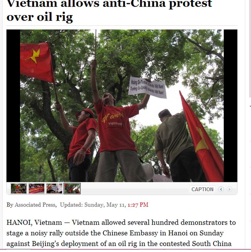 Việt Nam tuần hành hòa bình phản đối Trung Quốc lên báo chí quốc tế - ảnh 1