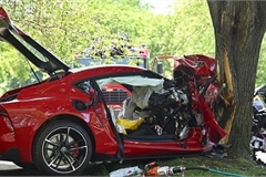 Toyota Supra vỡ nát đầu sau màn lái thử của khách hàng
