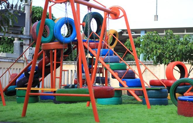 khánh thành khu vui chơi và nhà vệ sinh cho trẻ huyện đảo Lý Sơn - ảnh 1