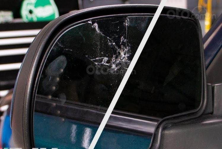 Dấu hiệu cần thay gương cửa ô tô - Trầy, xước hoặc sứt mẻ