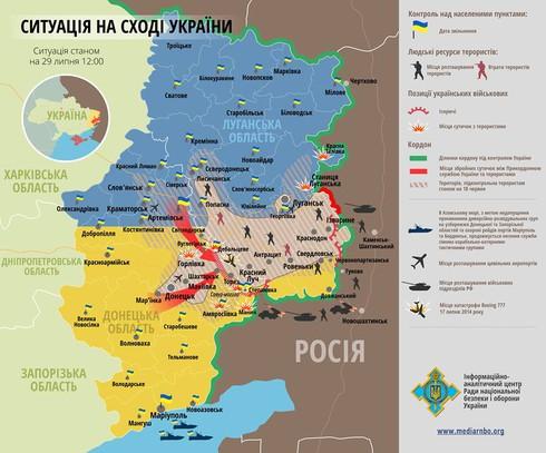 Ukraine: Quân ly khai đã bị chia cắt thành hai - ảnh 1